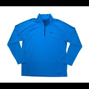 Under Armour Mens Activewear Pullover Blue All Season Gear /4 Zip Loose Fit XXL